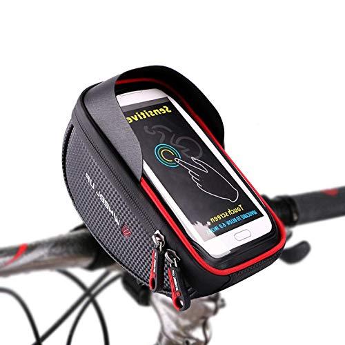 Bolsa Bicicleta Manillar,Selighting Bolsa Bicicleta Impermeable,Soporte Bolsa Movil Bicicleta Bolso Delantero Con pantalla Táctil Bici Bolso adecuado Teléfono Móvil dentro de 5,5 pulgadas