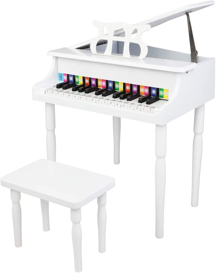 OVOUKP 30 Be super welcome Keys Max 69% OFF Wood Toy Grand with Music Bench and Stand Piano