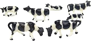 CWBPING 20pcs HO Scale Painted Farm Animals 1:87 Scale Model Cows 5 Different Poses Model Railway Model Animals