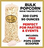 Gourmet Popcorn BULK/WHOLESALE-300 cups-90oz-MOVIE THEATER STYLE! PARTY BAG.
