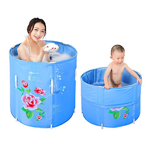 Buy Discount MBJZ The folding shower and extra thick bath tub adult bath tub plastic buckets bucket,...