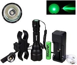 Flashlight 5000 Lumen Led Flashlight Tactical Hunting Rifle Lantern Outdoor Portable Torch+18650+Charger+Switch+Rfile Moun...