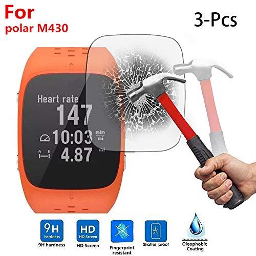 Colorful Für Polar M430 Schutzfolie, HD Superdünn Gehärtetes Glas Schutzfilm 9H Festigkeit Bildschirmschutzfolie für Polar M430 Smartwatch (3 Stück)