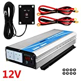 GIANDEL Power Inverter 3000W DC 12V to AC 240V Modified Sine Wave converter with Remote Dual AC Outlets&LED display for RV Truck car home use