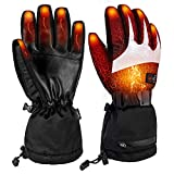 Battery Heated Gloves for Men Women,Rechargeable Electric...