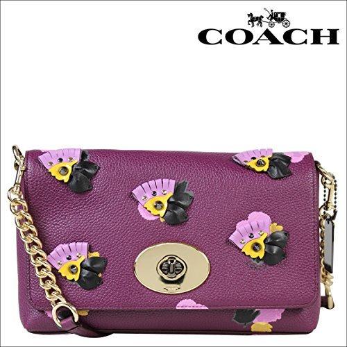 (コーチ)COACHバッグショルダーバッグポーチブティック商品37163プラム×フィールドフローラ(並行輸入品)