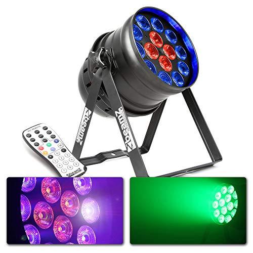 Beamz BPP225 PAR 64 LED-Scheinwerfer 6in1 LEDs RGBWA-UV 200W schwarz