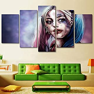 myvovo Cinco lienzos Frame Art Poster Home Decoration Modern 5 Panel Moviepara Sala de Estar Canvas HD Print Painting Modular Wall Pictures Halloween