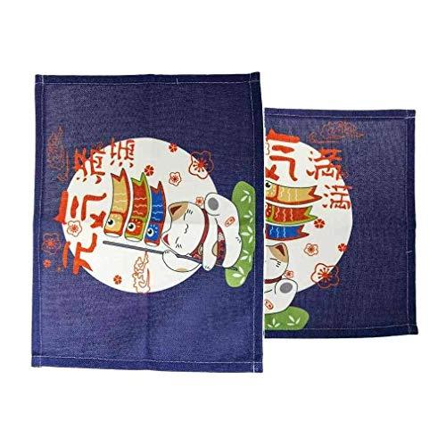 lachineuse 2 Dessous de Table Maneki Neko - Design Japonais