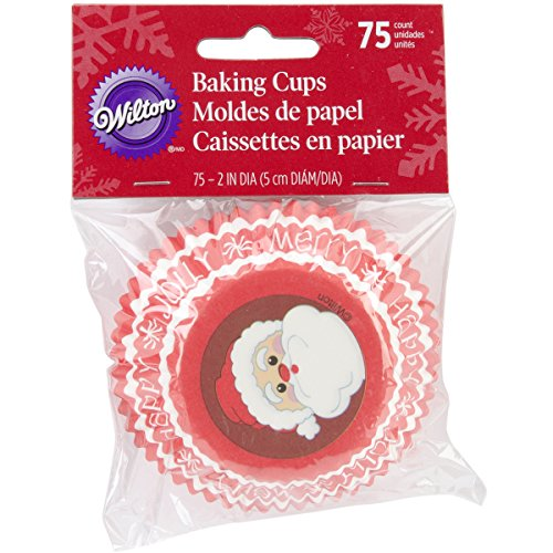 Wilton Standard Baking Cups, Secret Santa, 75-Pack