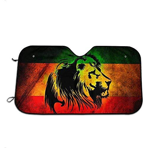 Astridh Jamaican Lion Flag Universal Auto Frontscheibe Visier Cover Block Sonne und Wärme mit personalisierten gedruckt