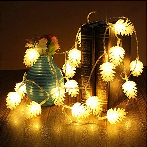 Pine Cone String Light 40 LED 19.6 ft, Remote Control & USB Powered Lights...