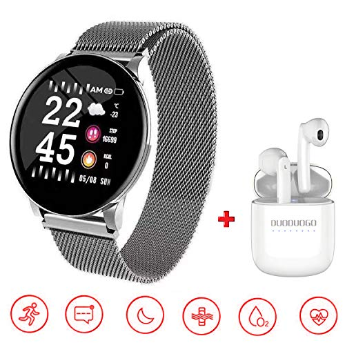 Smartwatch per Donna Uomo, IP68 Impermeabile smartwatch orologio fitness +Bluetooth Fitness Tracker attività con Cardiofrequenzimetro Pedometro per iOS Android Smartwatch Offerta Del Giorno