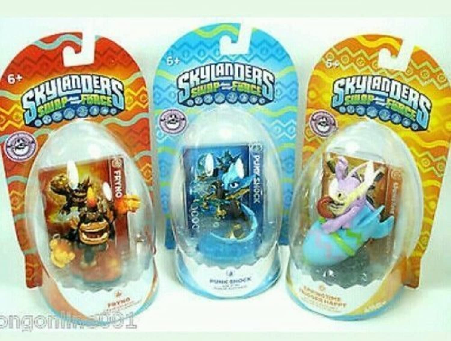 SKYLANDERS SWAP FORCE 2014 Easter Exclusives Set Of 3  FRYNO, PUNK SHOCK, & SPRING TIME TRIGGER HAPPY by Activision by Activision