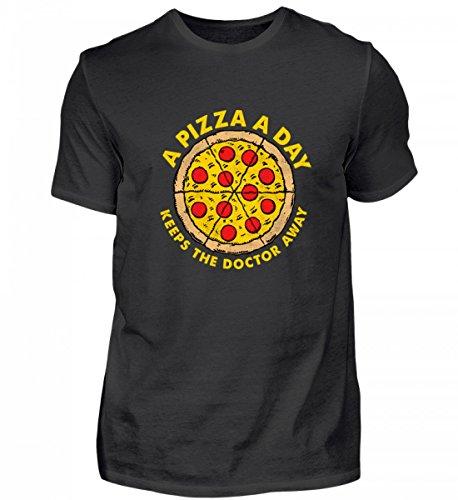 Hochwertiges Herren Shirt - A Pizza A Day Keeps The Doctor Away Pizza/Fast Food/Pizzabäcker Geschenk