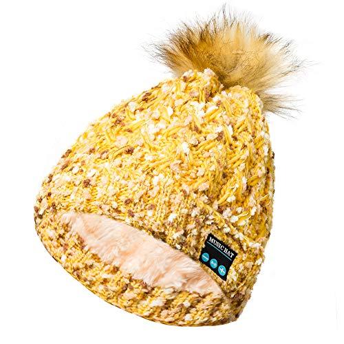 Shot Case Bluetooth-Mütze mit Bommel und integrierten Kopfhörern für Alcatel 3V, Wintertasten, Grau