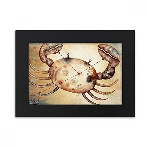 DIYthinker juni juli Kanker sterrenbeeld Zodiac Desktop fotolijst zwart Picture Art Schilderen 5X7 Inch
