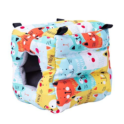 YU-HELLO Warm Hamster Nest Snuggle - Tienda de campaña para dormir con lecho, hábitat, cueva de azúcar