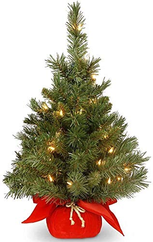 Ybzx Pre-Lit Artificial Mini Christmas Tree LED Lights Tabletop Xmas Tree Includes Multi-Color For Christmas Easter Decoration Wedding Indoor Outdoor Spring Use 1123 (Color : A)