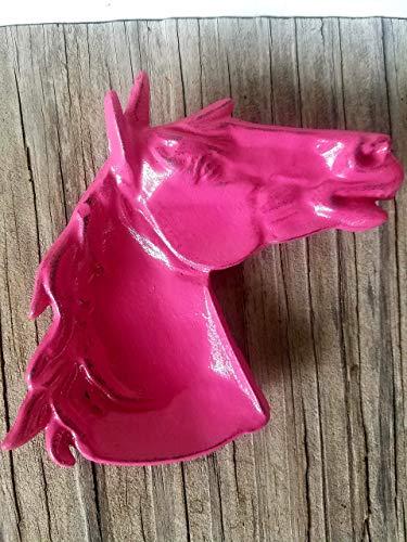 Hot Pink Southwestern Horse Trinket Dish – Men's Western Home Decor – Unique Rustic Office Organizer