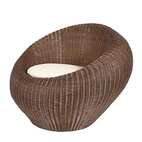 Rotin Design REBAJAS : -53% Sillón de ratan egg Satellite de color marrón muy moderno y barato