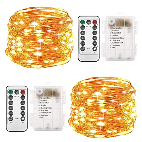 Twinkle Star - Guirnalda de 100 Luces LED de Alambre de Cobre
