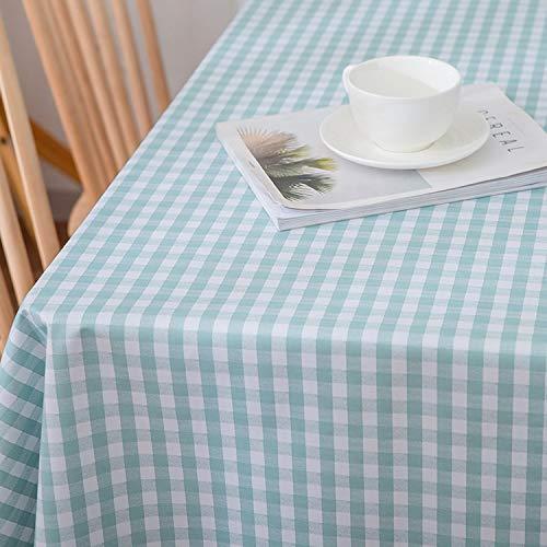 ZHUOBU - Mantel impermeable, planchado, antiaceite, sin lavado, para el hogar, algodón, cáñamo, pequeño y fresco, funda verde verdant, 140 x 140 cm