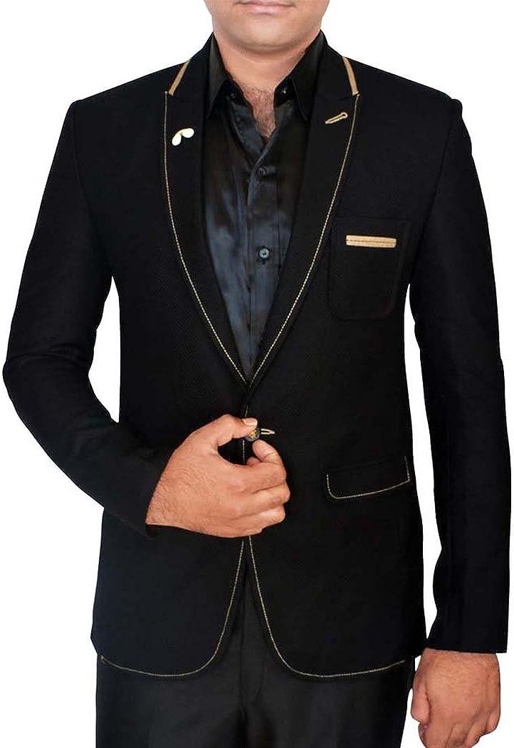 INMONARCH Mens Slim fit Casual Black Single Button Blazer Sport Jacket Coat Professional Style SB52XL54 54 X-Long Black