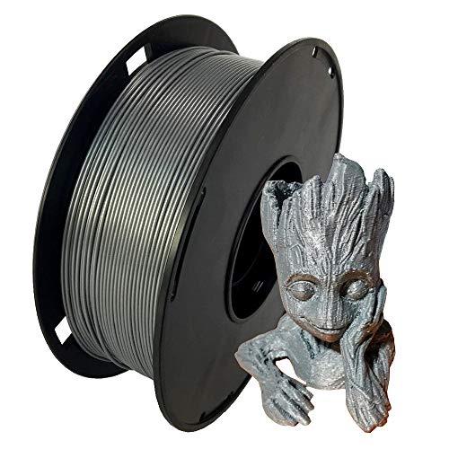 NovaMaker ABS Filament 1.75mm, Silver ABS 3D Printer Filament, 1kg Spool(2.2lbs), Dimensional Accuracy +/- 0.03mm, Fit FDM 3D Printer and 3D Pen