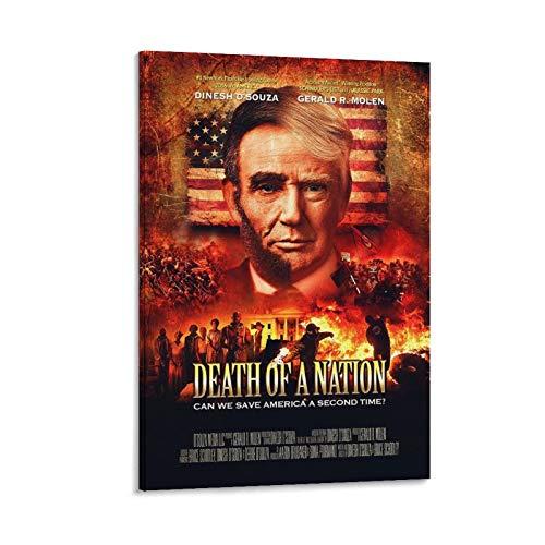 DIAOREN Pôster da morte de uma nação, pôster de arte em tela e arte de parede, impressão de imagem moderna para quarto de família 20 x 30 polegadas (50 x 75 cm)