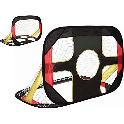 W.KING Objetivos Objetivo de fútbol para niños del Patio Trasero de fútbol para el Objetivo Pop Kids Futbolista para Arriba para Chidren Plegable y portátil Red de la Meta de fútbol