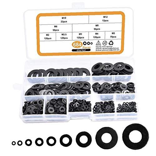 Unterlegscheiben Carbon Steel Unterlegscheiben Hardware-Sortiment Set 684 PCS Multifunktionale Industrial Equipment