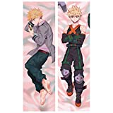 Raleighsee My Hero Academia Anime Katsuki Bakugou Body Pillowcase Peach Skin 2WAY Double-Sided Different Printing Pillow Cover Hot Gift for Anime Fans 40120cm/50150 cm(40120cm H02)