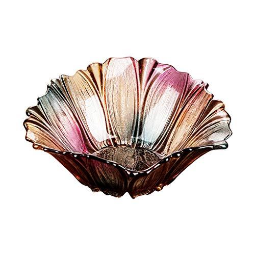 Plato de frutas Personalidad del hogar Sala de estar Hogar Moda moderna Creativa Lujo Cristal