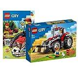 Lego 60287 Lego City Traktor - Juego de tractor Lego City (2 cómics), incluye cortacésped de plástico (31 piezas)
