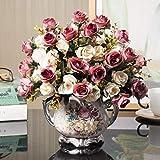 [実りの秋]造花 おしゃれ 花瓶付き �