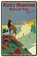鹿ヴィンテージメタルブリキサイン男の洞窟男性女性、バーの壁の装飾、レストラン、トイレカフェパブ、12x8インチ