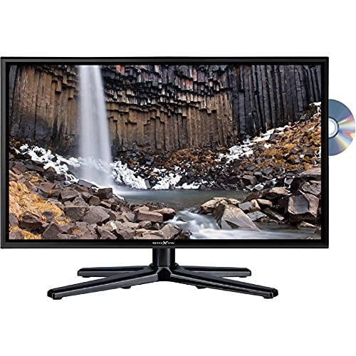 Reflexion LDDW240 Wide-Screen LED-Fernseher (24 Zoll) für Wohnmobile mit DVB-T2 HD, DVD-Player, Triple-Tuner und 12 Volt KFZ-Adapter (12 V/24 V, Full HD, HDMI, USB, EPG, CI+, DVB-T Antenne), Schwarz