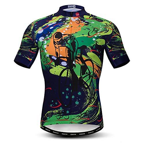Cycling Jersey Men Bicycle Short Sleeve Bike Shirt Quick-Dry Riding Clothing