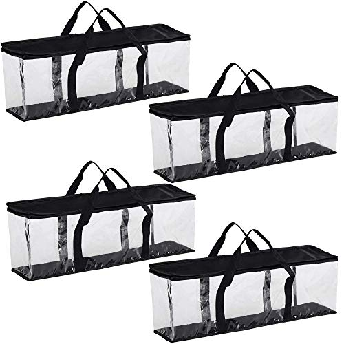 Clear Media Storage Bag Compatible with DVDs BluRays Video Game Cases VHS 40 DVD Capacity with Dividers Black 4