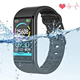 Fitness Watch with Blood Pressure Monitor,IP68 Waterproof Smart Bracelet Wristband Heart Rate Sleep