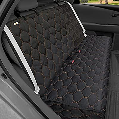 """BABYLTRLL Dog Car Seat Cover Waterproof Pet Bench Seat Cover Nonslip and Heavy Duty Pet Car Seat Cover for Dogs with Universal Size Fits Cars, Trucks and SUVs (53"""" W x 48"""" L, Black)"""