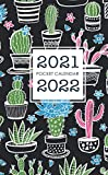 2021-2022 Pocket Calendar: Cactus Cover | Monthly 2 Year Appointment Planner 2021-2022 | Two Year Calendar Small Size | 24 Months Agenda Schedule Organizer with Holiday | Jan 2021 - Dec 2022