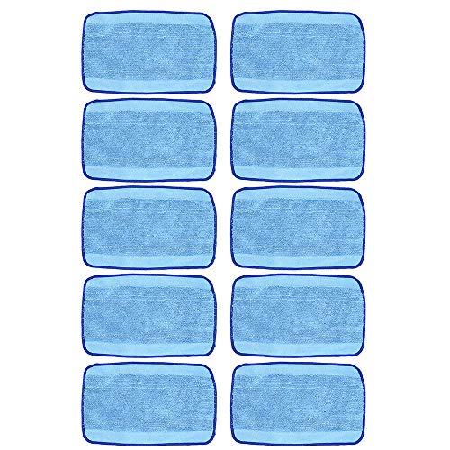 DingGreat 10Pcs Ersatz Nasswisch-Mikrofasertücher, Wischen Tücher für Robot Braava 390t 380 380t 320 Minze 4200 4205 5200 5200C