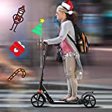 OppsDecor Scooter for White-Collar Workers,Kick Scooter with Disc Brake and 200mm Large Wheels, 3 Seconds Easy-Folding System Commuter Scooter Best Gift for Teenagers