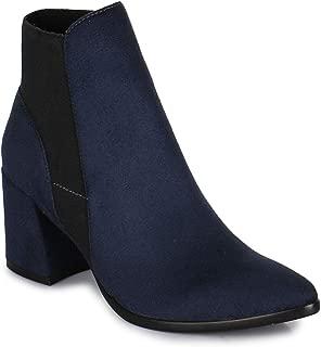 Bruno Manetti Women Suede Navy Heel Boots