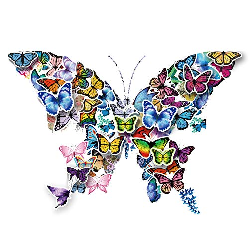 YOHOTA Stickers for Kids - Waterproof Butterfly Stickers Pack for Water Bottle Laptop Bike DIY, Personalised Stickers for Girls and Boys