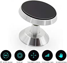 Magnetic Phone Car Mount,360 Rotation Car Phone Mount Holder Compatible with iPhone 11 Pro Xs Max XR X 8 7 Plus 6S SE, Galaxy S10 S10e 5G S9, LG,Note 10 and Mini Tablet (Compatible Most Case) Silver