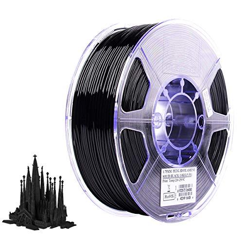 Aibecy PETG 1.75mm 3D Printer Filament Printing Consumables Dimensional Accuracy: +/- 0.05mm 1kg(2.2lb) Spool Material Refills