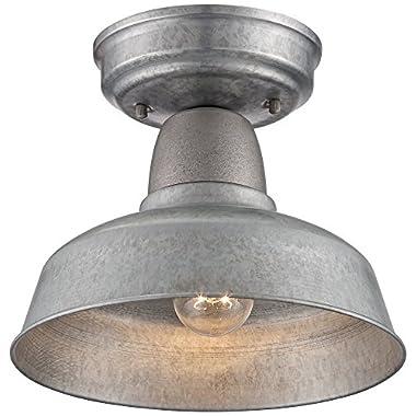 Urban Barn 10 1/4 W Galvanized Steel Outdoor Ceiling Light